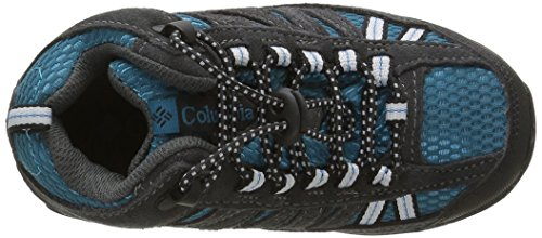 Columbia CHILDRENS PISGAH PEAK MID WATERPROOF - botas de senderismo de piel Niños^Niñas Azul (Dark Compass/Black 402Dark Compass/Black 402)