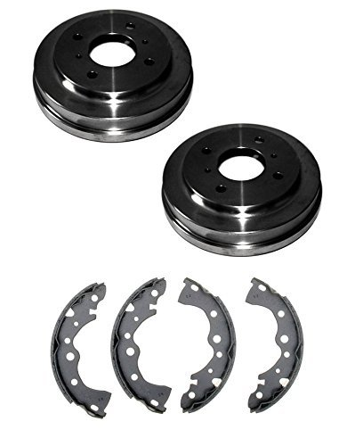 Mac Auto Parts 37355 Sentra Rear Left and Right Brake Drums & Brake Shoes
