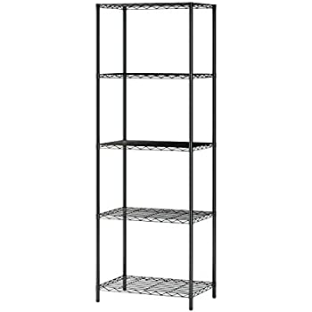 Homebi 5 Tier Wire Shelving 5 Shelves Unit Metal Storage Rack Durable  Organizer Perfect For