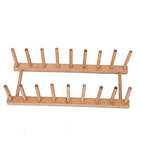 Bandeja de bambú para organizar y secar vasos 1090ce660324