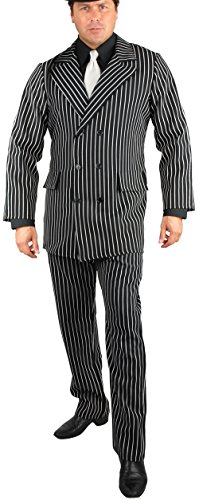 Roaring 20s Gangster Costumes (Gangster Adult Costume - Plus Size 3X)
