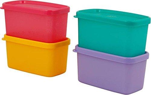 Tupperware Plastic Multi Purpose Storage Container   200 ml, 4 Pieces, Green