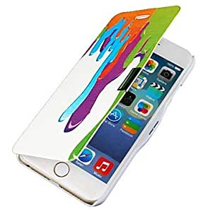 SHOUJIKE Dripping Paint Magnetic Flip Full Body Case with Hole for iPhone 6