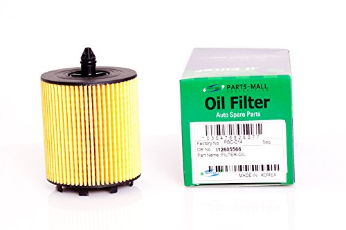 Parts-mall Oil Filter for Chevrolet Orlando part: 12605566 (Pack - Mall Orlando