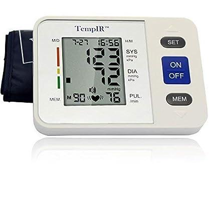 Tensiometros Brazo Monitor de Presión Arterial Digital con Detector de Ritmo Cardíaco, Electrónicos, Gran
