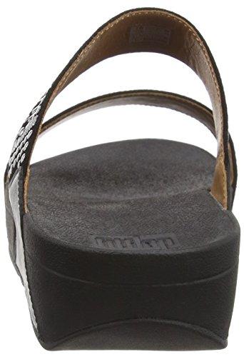 Fitflop FitflopAztek Chada Slide - Sandalias de Punta Descubierta Mujer Black (Black)
