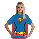 Justice League Child's Supergirl 100% Cotton T-Shirt - Large