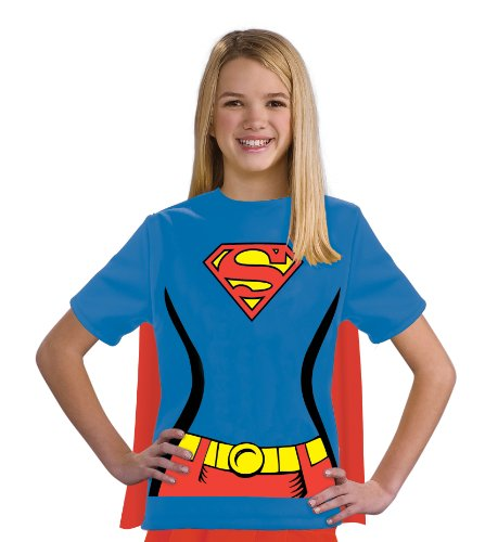 Justice League Child's Supergirl 100% Cotton T-Shirt - Medium -