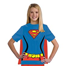 Rubies Costume Co (Canada) Justice League Child's Supergirl 100-Percent Cotton T-Shirt, Large