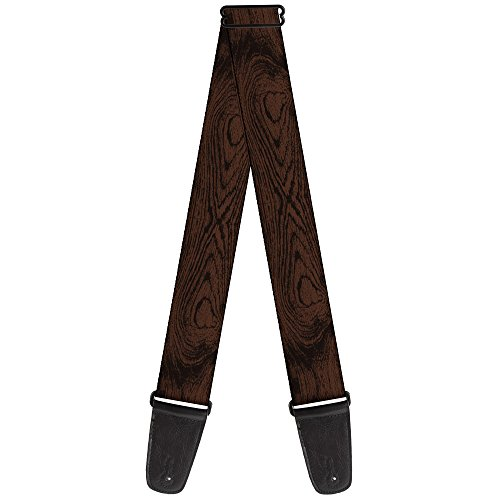 Wood Guitar Straps (Buckle-Down Guitar Strap - Wood Grain Walnut - 2