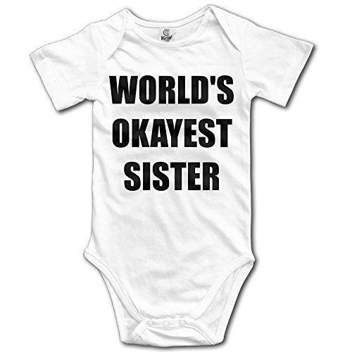 World's Okayest Sister Funny Baby - Discount Clothing Triathlon