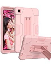 HAII Case for Samsung Galaxy Tab A7 Lite T220/T225, Full Body Rugged Kids Case with Kickstand Heavy Duty Shockproof Drop-Proof Protection Cover for Samsung Galaxy Tab A7 Lite 2021 (Rose Gold)