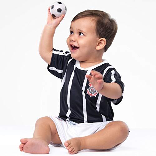 2a01730c6e Conjunto Infantil Torcida Baby Corinthians Camisa+ Calção Micro Dry  Sublimado