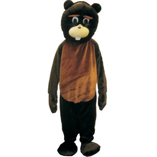 Beaver Costume Accessories (Beaver Mascot Costume Set - Adult (one size fits all))