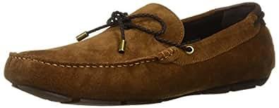 Kenneth Cole New York Men's Engle Slip ON Loafer, Rust, 7 M US