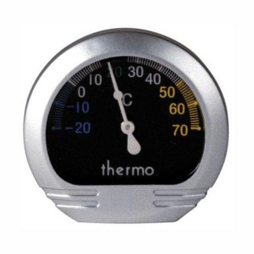Lampa Präzisions KFZ-Thermometer Aluminium