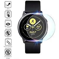 Lyperkin [2-Pack] Protector de Pantalla Activo para Samsung Galaxy Watch, Protector de película de TPU Ultrafino Premium [Sin Burbuja] [A Prueba de explosiones] para Samsung Galaxy Watch Active 2019