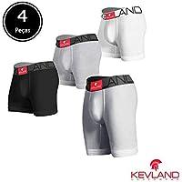 Cuecas Kevland - Kit Com 3 Peças boxer + 1 Long Leg ALGODÃO SORTIDO