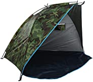 Carp Fishing Bivvy Tent Shelter, Outdoor Fishing Shelter Tent Portable Camouflage Sunshade for 1-2 Man Quick E