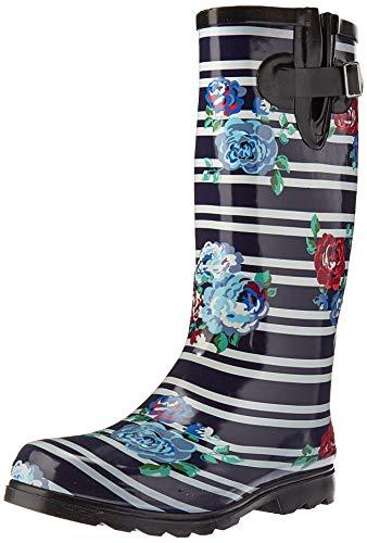 Nomad Women's Puddles Rain Boot, navy stripes, 8 Medium US
