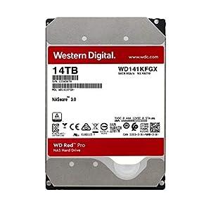 """WD Red Pro 14TB NAS Internal Hard Drive - 7200 RPM Class, SATA 6 Gb/s, CMR, 512 MB Cache, 3.5"""" - WD141KFGX"""