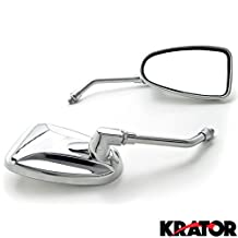Custom Rear View Mirrors Chrome Pair w/Adapters For Yamaha V-Star Vstar 950 1100 1300 Classic Stryker