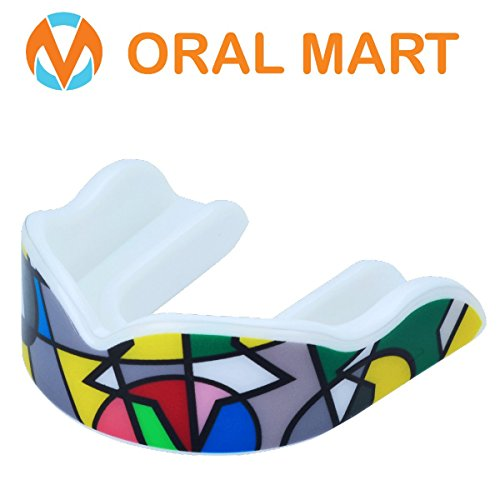 """Oral Mart """"Charming"""" Picasso Sports Mouth Guard (With Free Case) – Custom Design Sports Mouthguards for Boxing, Sparring, MMA, Lacrosse, Kickboxing, Football, Rugby, Hockey, BJJ, Muay Thai – DiZiSports Store"""