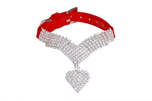 41GsGqbrDcL - EXPAWLORER Rhinestone Dog Collar Pet Puppy Cat Crystal Collars Girl Jeweled Necklace