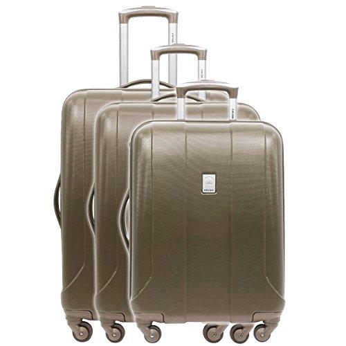 Delsey Stratus valigia a 4 ruote (set di 3) chestnut