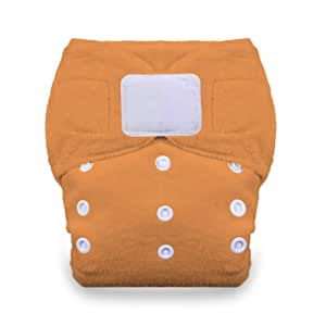 Thirsties Duo Fab Fitted Cloth Diaper with Hook and Loop, Mango, Size 2