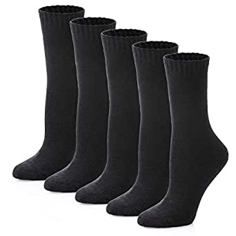 LINEMIN Womens Fuzzy Wool Winter Socks Thick Warm Thermal