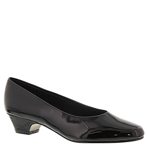 Synthetic Black Leather Soft - Soft Style Women's Angel II Pump,Black Patent,9.5 W US