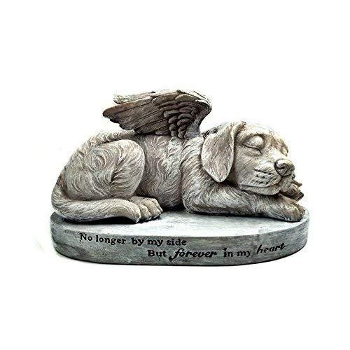 Hund Gedenkstein schlafender Engel Hund mit Fl/ügeln Garten Statue Engel Pet Statue