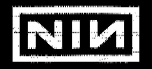- Licenses Products Nine Inch Nails Punchcard Sticker