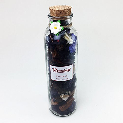 MONAPHAT The Beautiful Glass Bottle Design Decorative with LAVENDER Fragrance Potpourri #PR-0404 by MONAPHAT