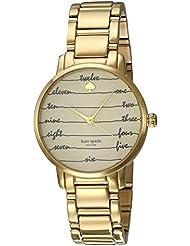 kate spade new york Womens Goldtone Gramercy Chalkboard Watch