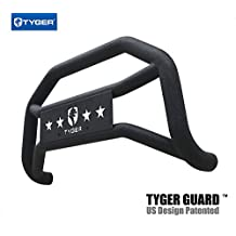 Tyger Auto TG-GD6N60158 Front Bumper Guard Fits 2005-2018 Nissan Frontier | Textured Black | Light Mount | Bull Bar