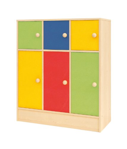 Delicieux Creativity Rainbow Range Storage Cupboard With 4 Large And 3 Small Cupboards:  Amazon.co.uk: Office Products
