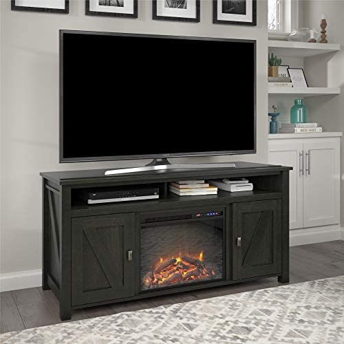 Ameriwood Home Farmington Electric Fireplace Console 60″