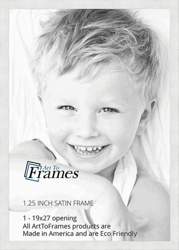 Amazon.com - ArtToFrames 19x27 inch Satin White Frame Picture Frame ...
