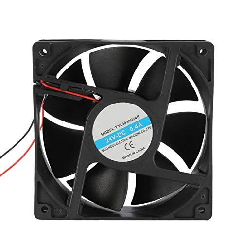 uxcell 120mm x 120mm x 38mm 24V DC Cooling Fan Long Life Dual Ball Bearing PC Case Fan