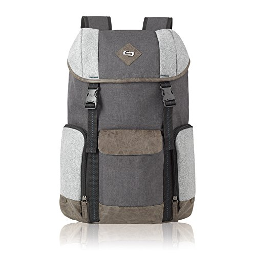 """Solo Urban Nomad 15.6"""" Laptop Backpack, Grey"""