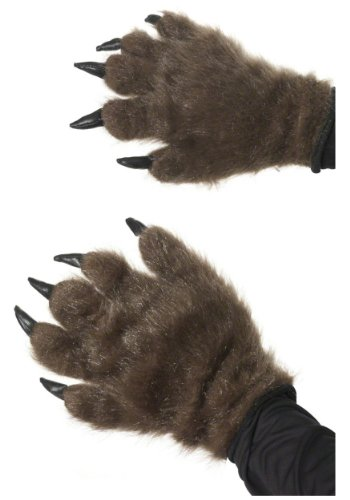 Halloween Dog Costumes Uk (Smiffy's Adult Unisex Hairy Monster Hands, Brown, One Size, 36670)