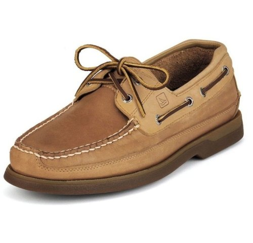 Sperry Top-Sider Men's Mako 2-Eye Leather Boat Shoe Beige 10 M US