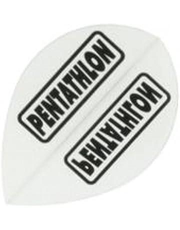 Empire 25L729 Alette per freccette Pear poliestere PenTathlon transparente bianco