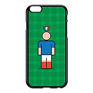 France Black Hard Plastic Case for iPhone 6 Plus by Blunt Football International + FREE Crystal Clear Screen Protector