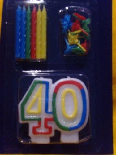 Vela de cumpleaños 40. Incluye 12 velas de cumpleaños con ...