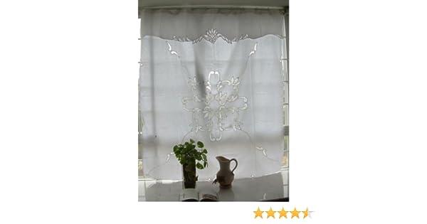 Amazon Vintage Battenburg Lace White Cotton Shower Curtain Kitchen Dining