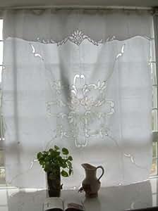 Amazon Com Vintage Battenburg Lace White Cotton Shower