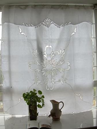 Home Garden Beautiful Battenburg Lace Shower Curtain B White Cotton 72 Elegant Life Opstinains Net